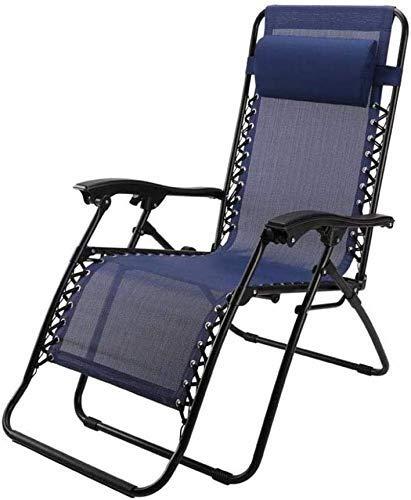 Sun Lounger Garden Chairs Foldable Deck Chair Patio Reclining Chairs Zero Gravity Folding Reclining Chair Deck Chairs Garden Sun Loungers Blue Textilene sun lounger chair (Color : A)
