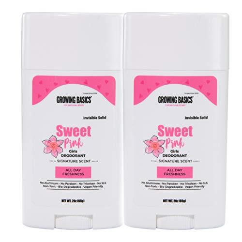 GrowingBasics Deodorant for Kids Sweet Girl, Pink