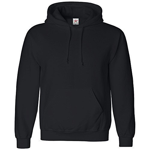 Star and Stripes Uni Sweat Capuche Sweat Shirt Capuche pour Homme et Femme à Capuche Sweatshirts - Noir, Medium