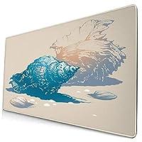 マウスパッド 大型 ゲーミング キーボードパッド 貝殻 貝 手描き 上品 海 ゴム底 光学マウス ゲーム 特大 40cm×75cm 滑り止め エレコム 耐久性が良い おしゃれ かわいい 防水 サイバーカフェ オフィス最適 適度な表面摩擦