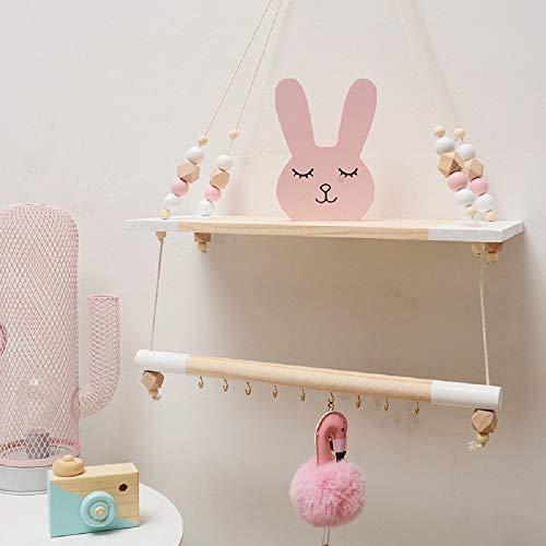 HAI+ Estantes flotantes de Cuerda para Colgar en la Pared, estantes de Cuerda para salón, Dormitorio, baño y Cocina
