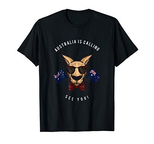 Australien is calling Shirt Abschiedsgeschenk Backpacker