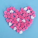 ピンクミニハート緩衝材 ピコクッション スポンジ 撮影道具 バレンタイン プレゼント 飾り ホワイトデー 贈り物 100ピース