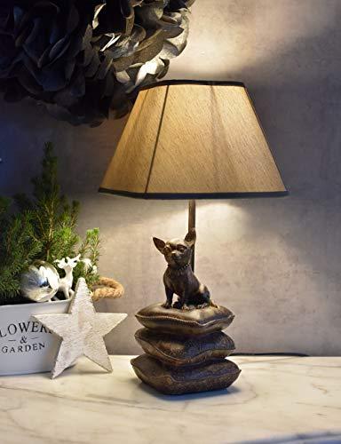 Chiwawa Lampe Tischleuchte Hund Chihuahua Hundefigur Tischlampe Leuchte Skulptur cw074 Palazzo Exklusiv