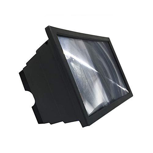 FYYONG 3D amplificadores de Pantalla del teléfono móvil de Aumento Pantallas de vídeo HD de Vidrio for Ampliar la protección Ocular en Nombre de los titulares (Color : Black)