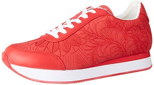 Desigual Shoes Galaxy Lottie, Zapatillas Mujer, Rojo Roja 3061, 38 EU
