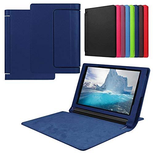 Asng Lenovo Yoga Tab 3 8 Case - Slim Folding Stand Cover Smart Case for 2015 Lenovo Yoga Tab3 8-Inch Tablet (Drak Blue)