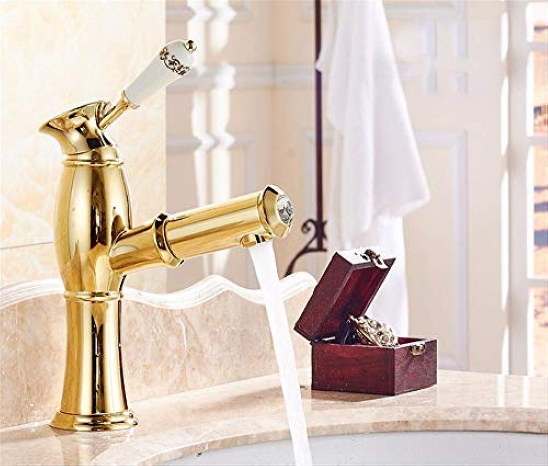 Yuanshuai88-Faucet Antike heies und kaltes Wasser-Badezimmer-Eitelkeit des Hahns über Gegenbeckenwasserhahn