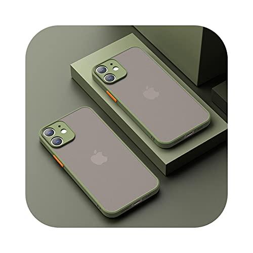 Carcasa mate a prueba de golpes para iPhone 12 Mini 11 Pro Xs Max XR X 7 8 Plus SE lujo silicona parachoques transparente Fundas-AG-para iPhone XS Max