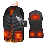 kacai Gilet Chauffant pour Hommes et Femmes, Veste chauffante USB, Gilet Chauffé à réglage de température à 3 Vitesses,Garder au Chaud en Hiver pour Le Camping en Plein air, Le Ski