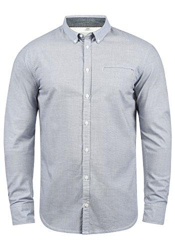 Blend Fill Herren Freizeithemd Hemd Mit Button-Down-Kragen Aus 100{9496780f008aa8c9bf48631db68bfa1ba69465de0b5b5b57a10cf86eba6f01d6} Baumwolle, Größe:XL, Farbe:Mood Indigo (74648)