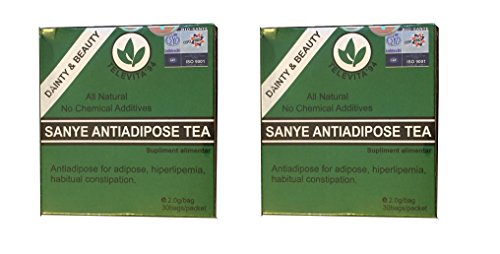 2 x SANYE Anti-adipösen Tee ( ANTI - ADIPOSE TEA ) ; Entgiftung Abführmittel, Fast Weight Loss - 60 Beutel ( Detoxifying Laxative, Fast Weight Loss - 60 bags )