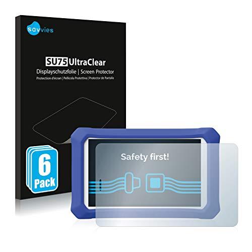 savvies 6-Pezzi Pellicola Protettiva Compatibile con Clementoni Clempad 9 Plus Protezione Schermo Trasparente