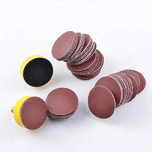 YJRIC papel de lija 100PCS 25mm 1Disco Disco de lijado Papel de grano 100-7000, 1000
