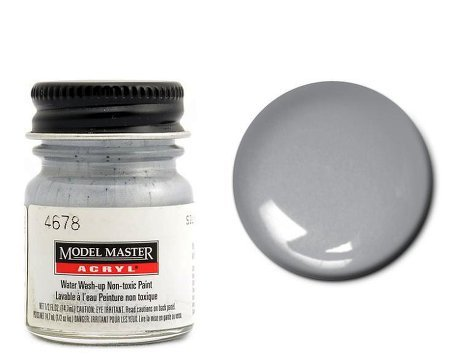 TESTORS Silver Acrylic Plastic Model Paint