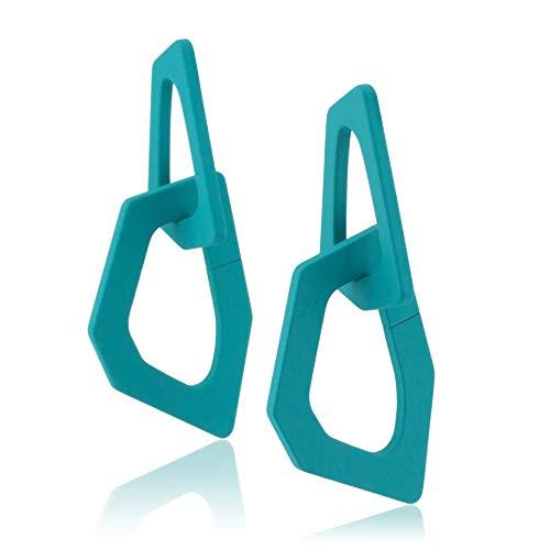 by MODERN Acrylic Lightweight Dangle Drop Earrings Fashion Jewelry for Women Girls (Teal)