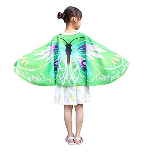 ZEELIY Kind Halloween-Party Prinzessin Lillifee Kinderjungenmädchenböhmischer Schmetterlingschalendruck-Kleidungszubehör