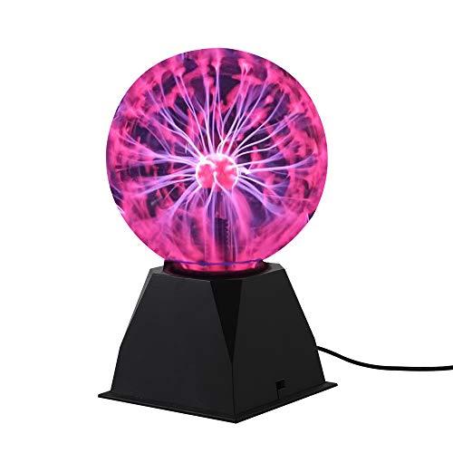 Luz de la bola de Plasma, Lámpara de la bola del plasma sensible al tacto,Cristal Mágica en Atmósfera de Carnaval Rayo (6 inch)