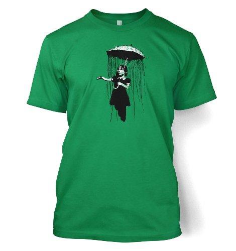Banksy Tshirts PP - Regenschirm Mädchen Nola Männer Banksy T-Shirt Männer T-Shirt 50 Kelly Grün