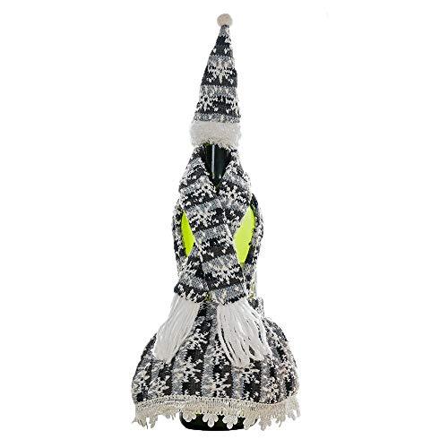 Perfecte sjaal, gebreid, Kerstmis met de hoed van fles, decoratie