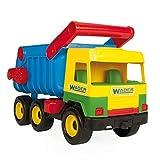 Wader 32051 - Middle Truck Kipper mit arretierbarer Mulde, gelb, Spielzeugauto ab 12 Monaten, ca. 43...