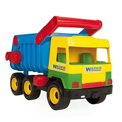 Wader 32051 - Middle Truck Kipper mit arretierbarer Mulde, gelb, Spielzeugauto ab 12 Monaten, ca. 43 cm, ideal als Geschenk zum Geburtstag, zu Ostern oder Weihnachten zum phantasievollen Spielen