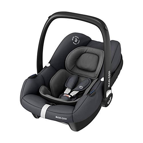 Maxi-Cosi Tinca i-Size Babyschale, sehr leichter Gruppe 0+ Autositz (nur 3,2kg), nutzbar ab der Geburt bis zu 75 cm (0-12 kg), Essential Graphite, Grau