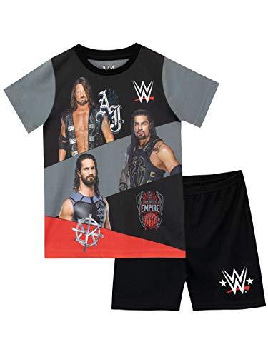 WWE Jungen World Wrestling Entertainment Schlafanzug Schwarz 158