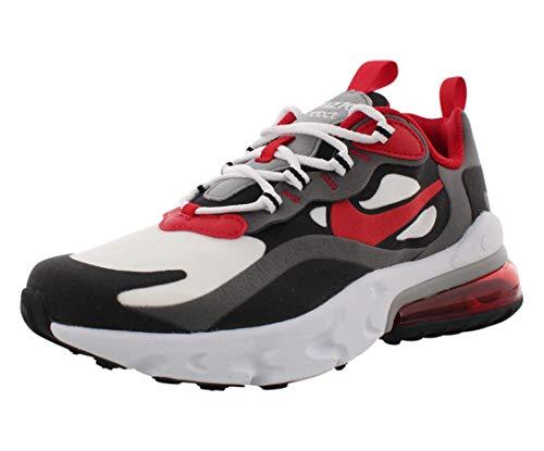 Nike Air Max 270 React (GS), Chaussure de Course, Multicolore Iron Grey Univ Red Black White, 36 EU