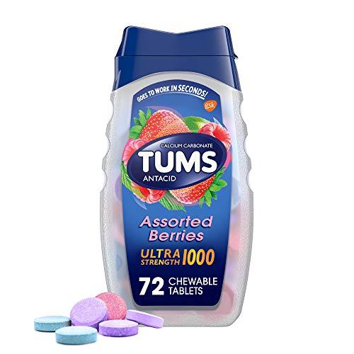 Tumas 278548 Tableta de antiácido ultra resistencia 1000, bayas surtidas, paquete de...