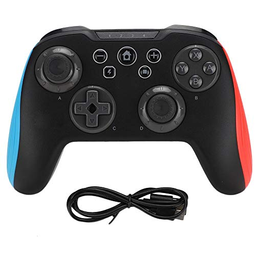 Wendry Gamepad, Joystick 3 en 1, Manija inalámbrica Bluetooth para Juegos, para Joysticks Switch/PC/Android Gamepad Gaming, Práctico y Duradero