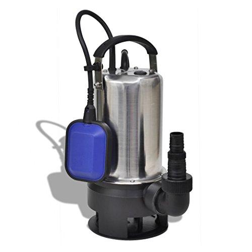 vidaXL Bomba Sumergible de Agua Sucia 1100 W 16500 L/h 7 M Bombeo de Jardín