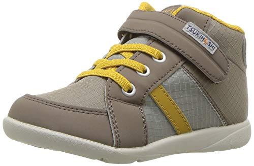 TSUKIHOSHI Boy's Grid Sneaker, tan/Mustard, 10.5 M US Little Kid M US Little Kid