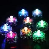 CLISPEED 20 Piezas de Luces de Té Impermeables sin Llama Candelitas Flotantes Batería Parpadeante LED Velas Sumergibles Estanque de Pesca Luces de Piscina Velas sin Llama Color Azar