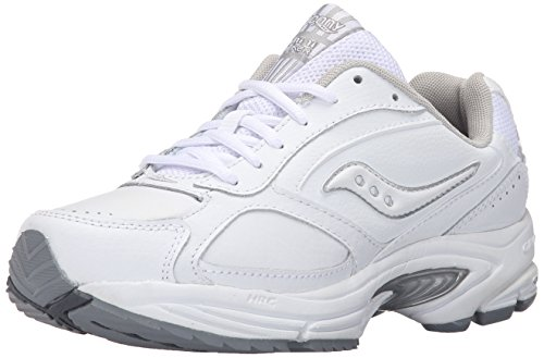 Saucony Women's Grid Omni Walking Shoe,White/Silver,9 W (5261-1)