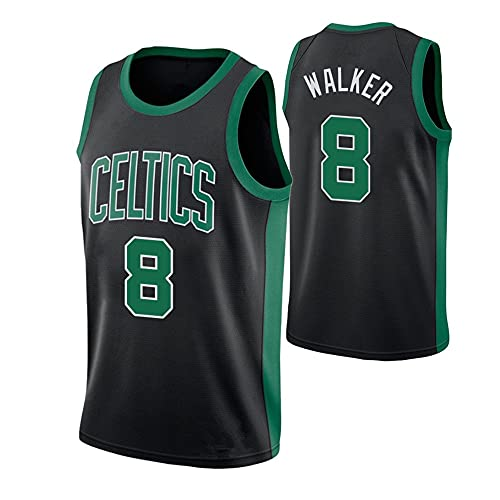 Camiseta de Baloncesto Chaleco Hombre NBA Basketball Celtics No. 8 Jersey Casual Negro Camisetas de Media Manga, L