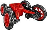 yanzz RC Truck RC Cars 2.4GHz Race Stunt Car Doble Cara 360 & deg;Faros Delanteros LED de rotación giratoria 2WD de Alta Velocidad Todoterreno para Juguetes de niño (Color: Azul) (Color: Rojo)
