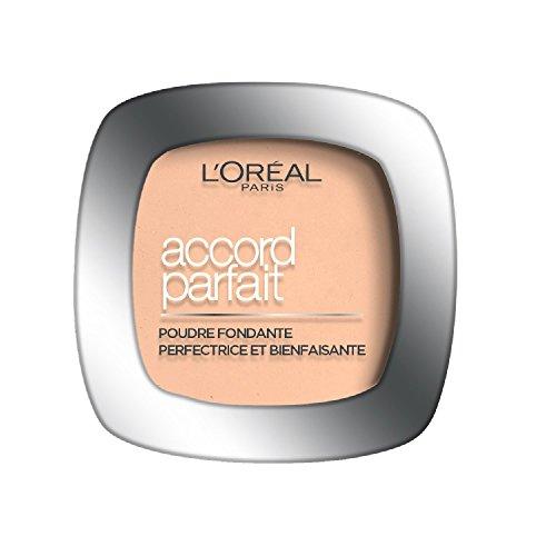 L'Oréal Paris Make Up Designer Accord Parfait Fond de Teint Poudre Visage 7.r Ambre Rosé
