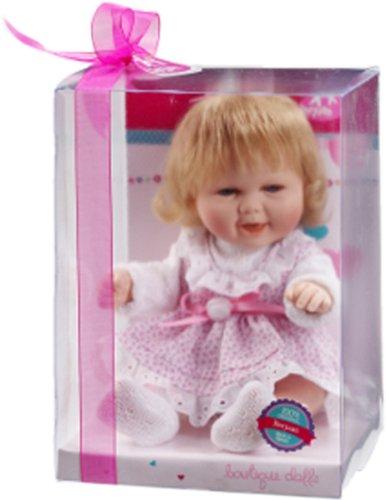Berjuan Baby Smile Boy pop in trui, blauw Meisje in een jurk met patroon. roze