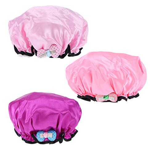 Lurrose 3 stuks kinderdouchekap waterdichte badkappen gehoorbescherming douchekap voor kinderen badkamer zwembad Größe 1 Afbeelding 1.