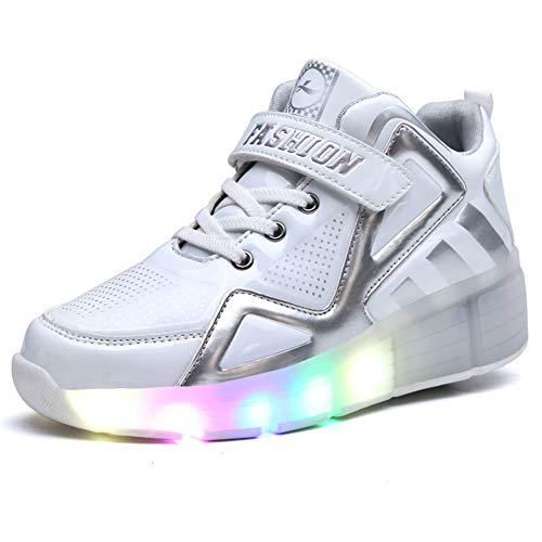 Zapatillas con Ruedas 7 Colores LED Luces Luminosas Zapatos...