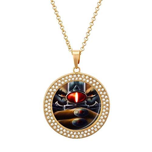 Collar de diamantes multicolor Thunder-Cat - Collar con colgante liviano, joyería de moda para niñas y niños