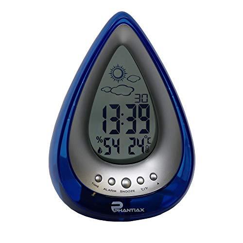 Phantiax Digitaluhr H2O Wecker Wetterstation Kalender Wasserbetrieben Batterielos