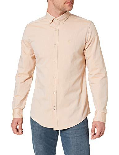 Springfield Camisa Pinpoint, Amarillo, L para Hombre