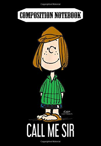 Composition Notebook: Peanuts Peppermint Patty Call Me Sir, Journal 6 x 9, 100 Page Blank Lined Paperback Journal/Notebook