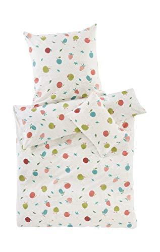 hessnatur Baby Mädchen Biber Bettwäsche aus Reiner Bio-Baumwolle lachs 100x135+40x60 cm