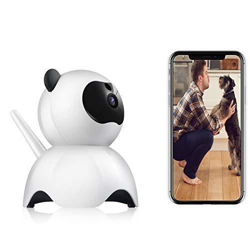 Hunde-Kamera 1080P FHD WiFi IP-Kamera Haustier Monitor Heimüberwachung Sicherheitskamera Katze Kamera Bewegungserkennung Nachtsicht 2-Wege Audio Home Security Cloud Storage (weiß)