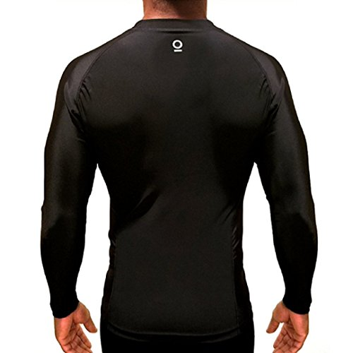 Optimal Human BJJ Jiu Jitsu Long Rashguard - No Gi Rash Guard - for Grappling, MMA, Wrestlng | IBJJF Approved