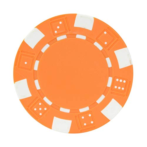 MARYYUN Lote de 25 fichas de póquer clásicas de Entertament de 5 colores Texas Hold'Em fichas de póquer fichas de poker para mesa de poker (color: naranja)