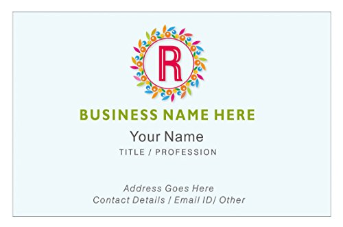 Design Your Own Personalised Business Cards Custom Employee Company Visiting Card- Front-110 LBS -Thick paper